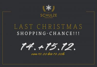 Last Christmas Shopping-Chance